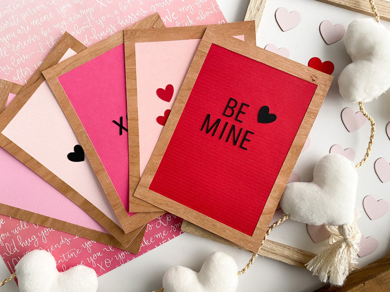 DIY Letter Board Valentine's Day Cards