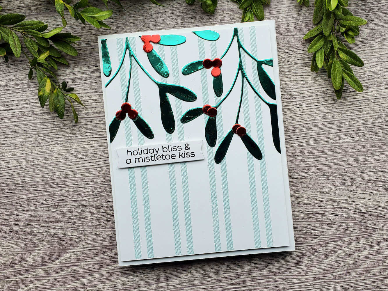 Mistletoe Mirror Paper Holiday Card
