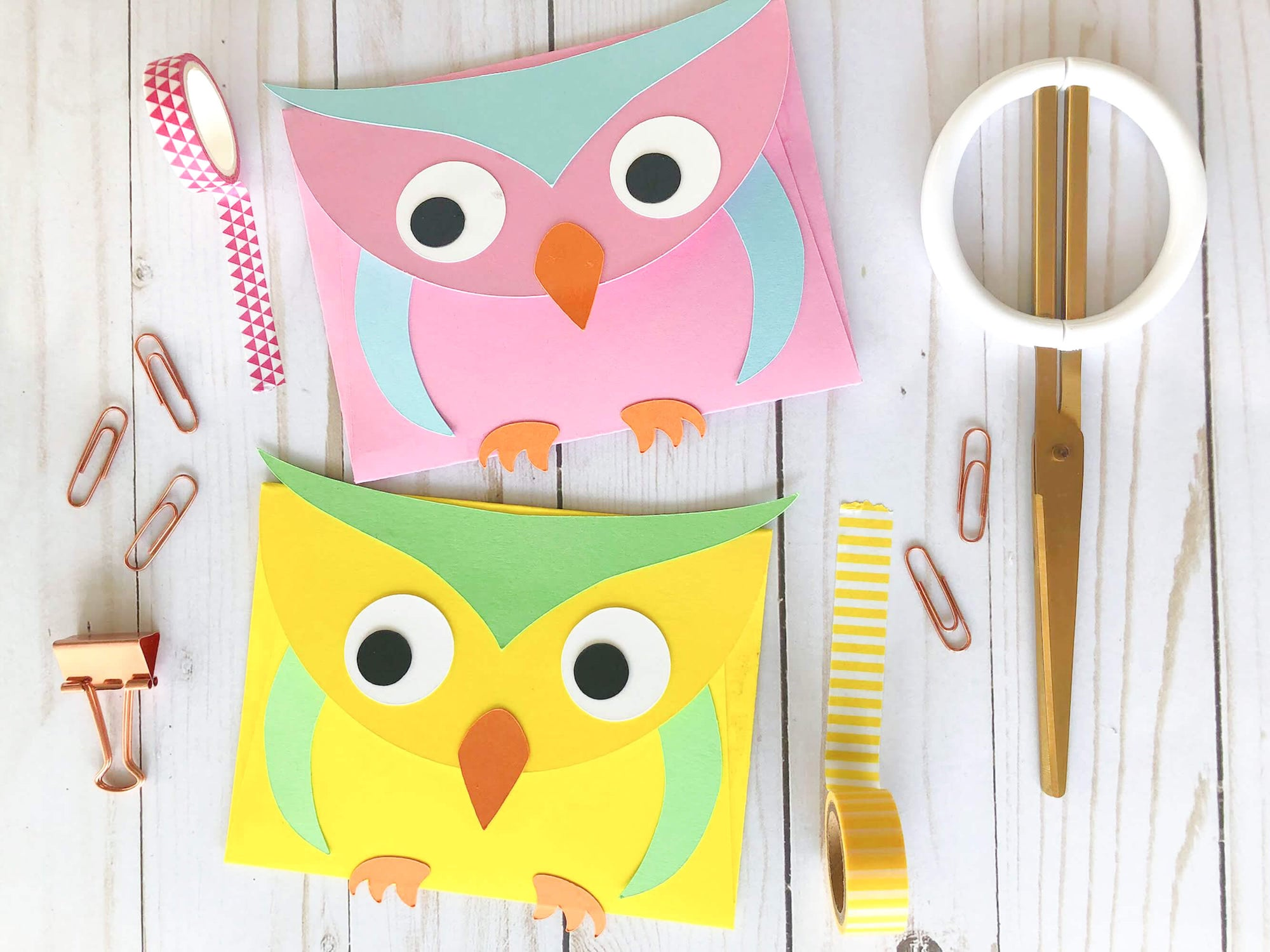 Paper Owl Envelopes
