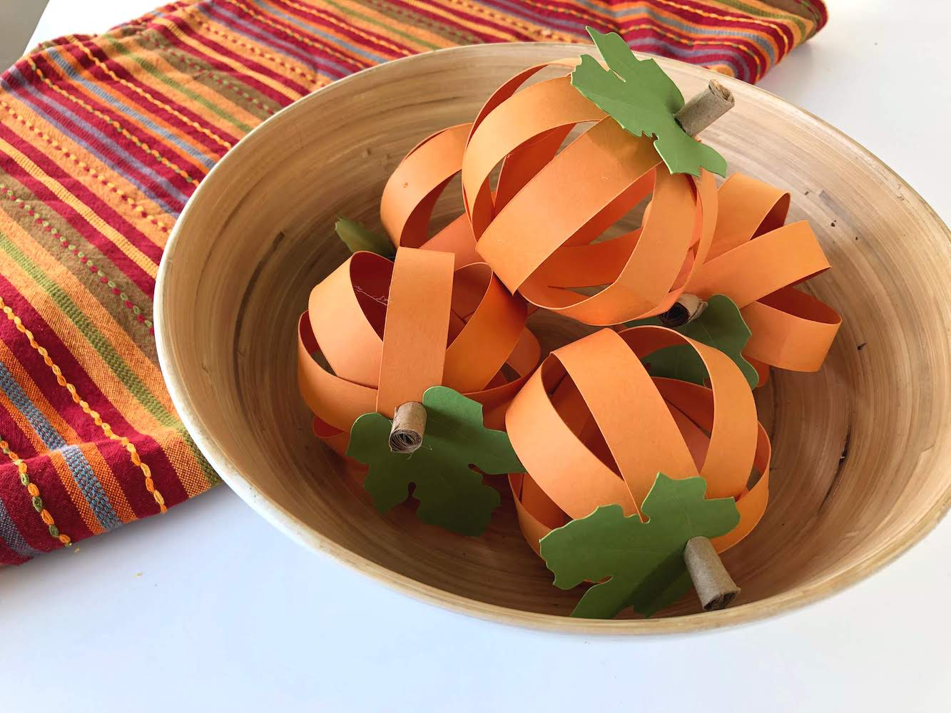 Paper Strip Pumpkins Decor