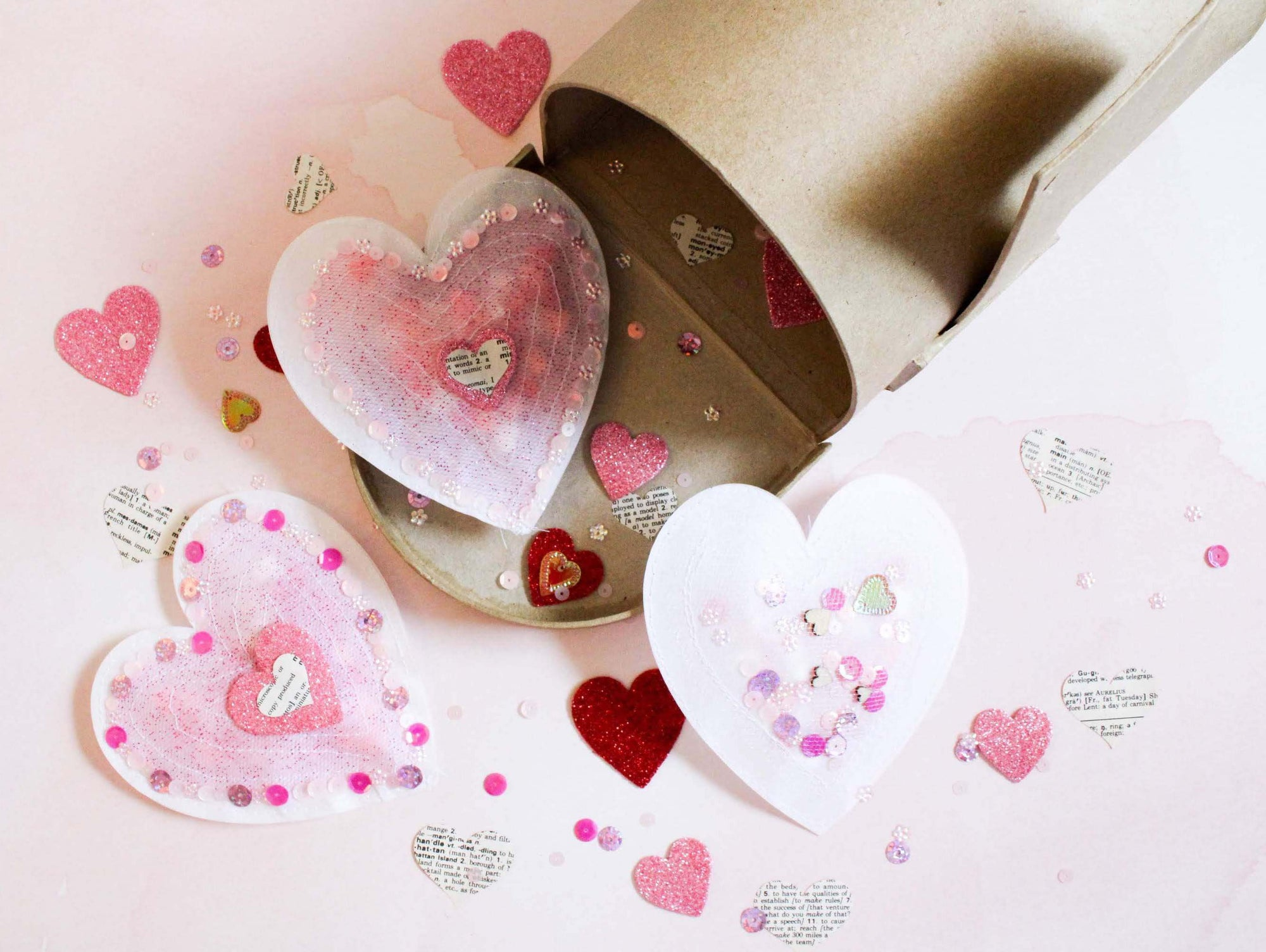 Sewn Parchment Paper PopTaHearts