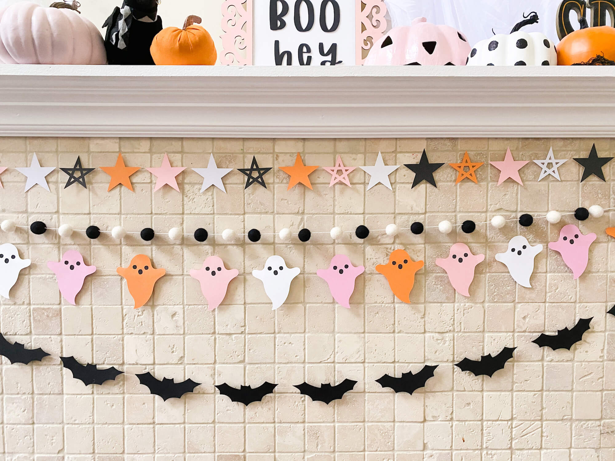 Pink Halloween Banners