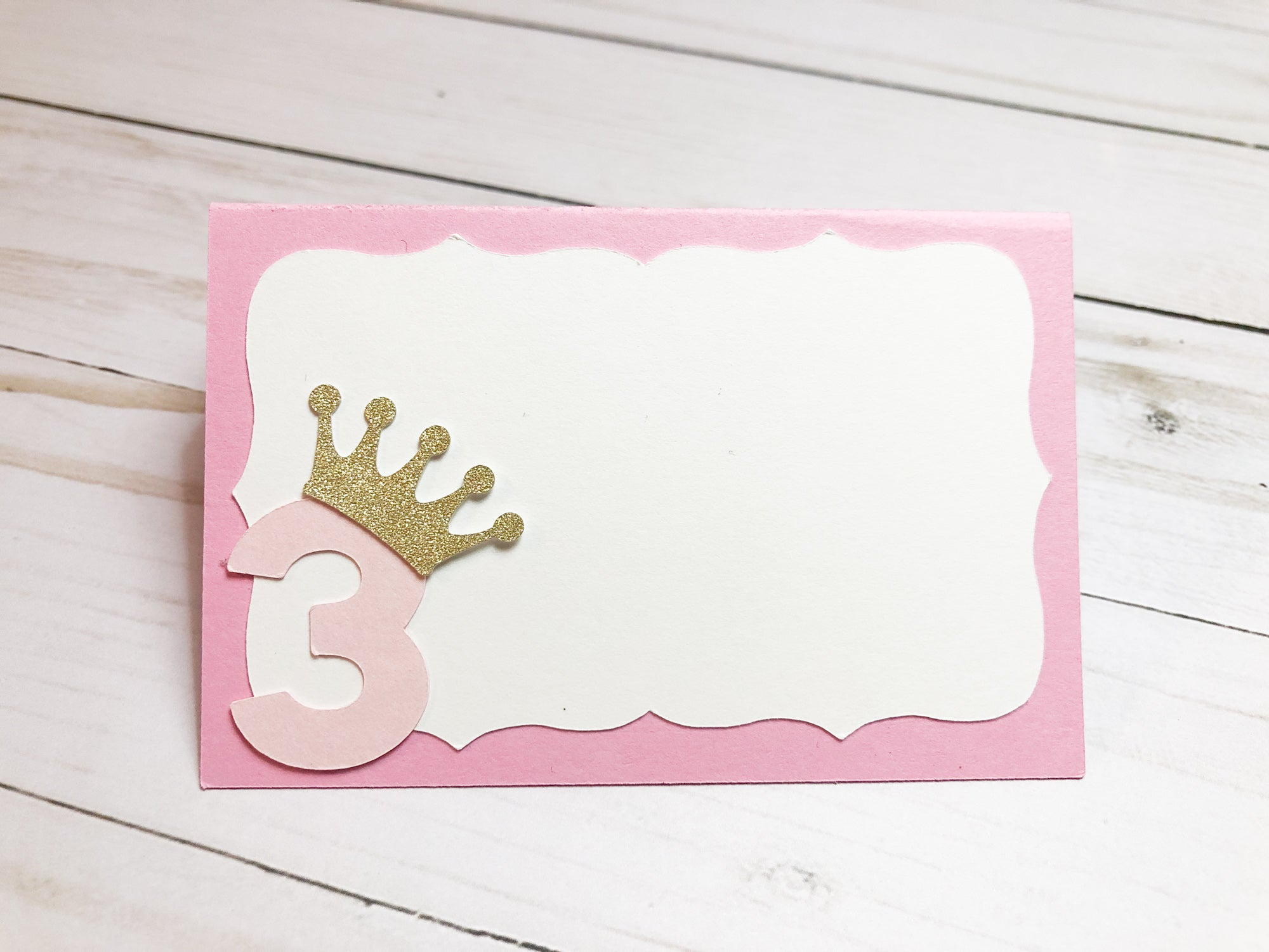 DIY Princess Food Tent Cards