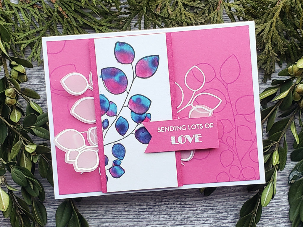 Razzle Berry Valentine Card