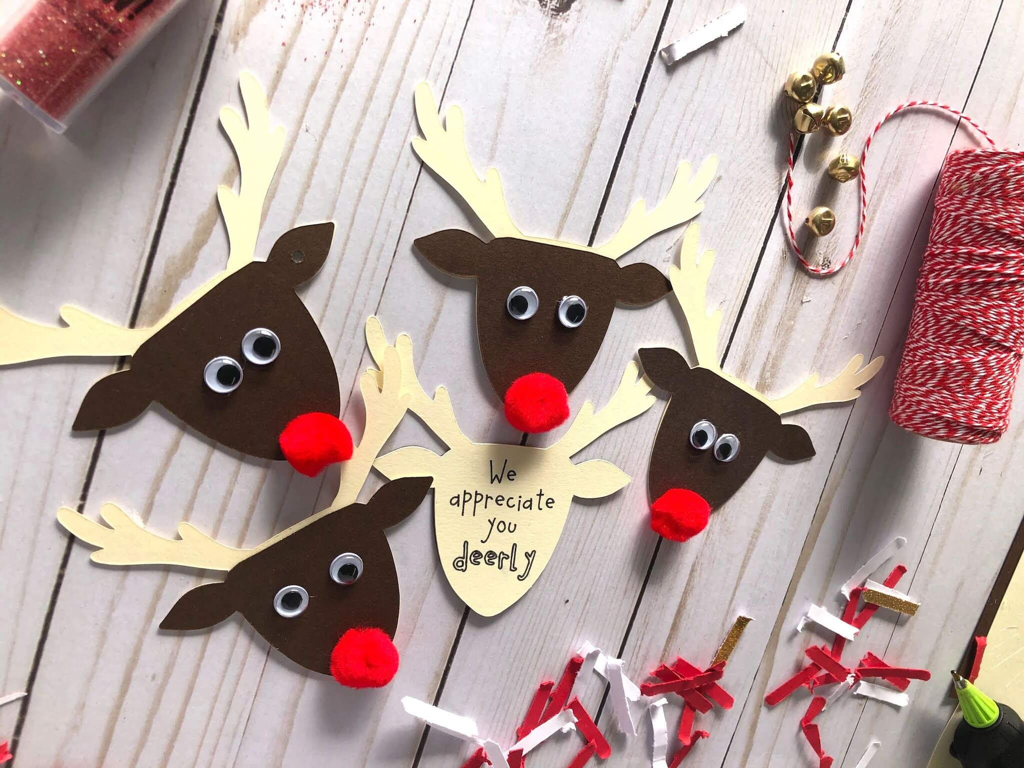 Reindeer Gift Tags Kids Craft