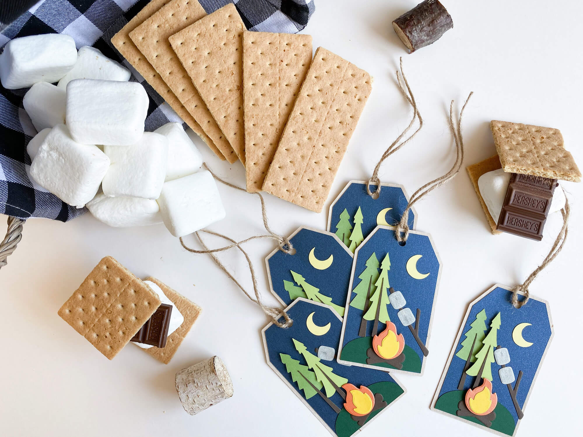 Paper Campfire S'mores Tag