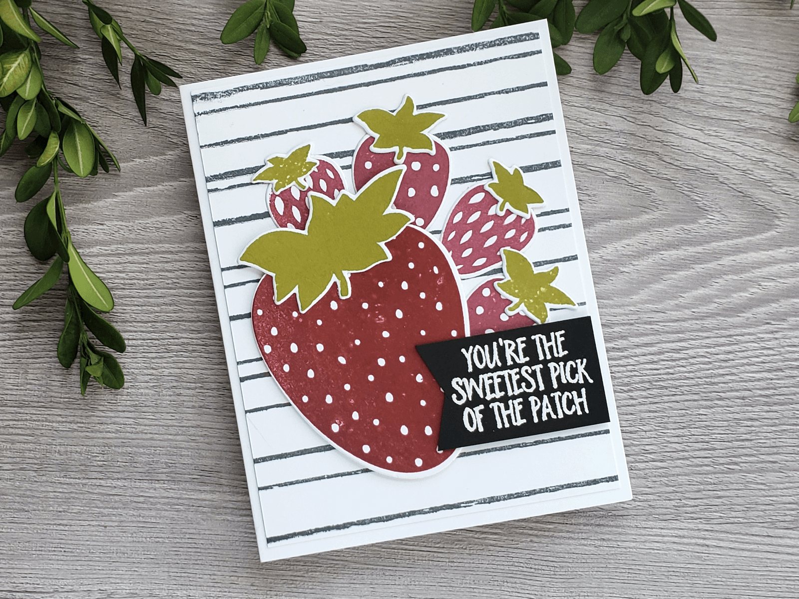 Stamped Strawberry Greeting Card