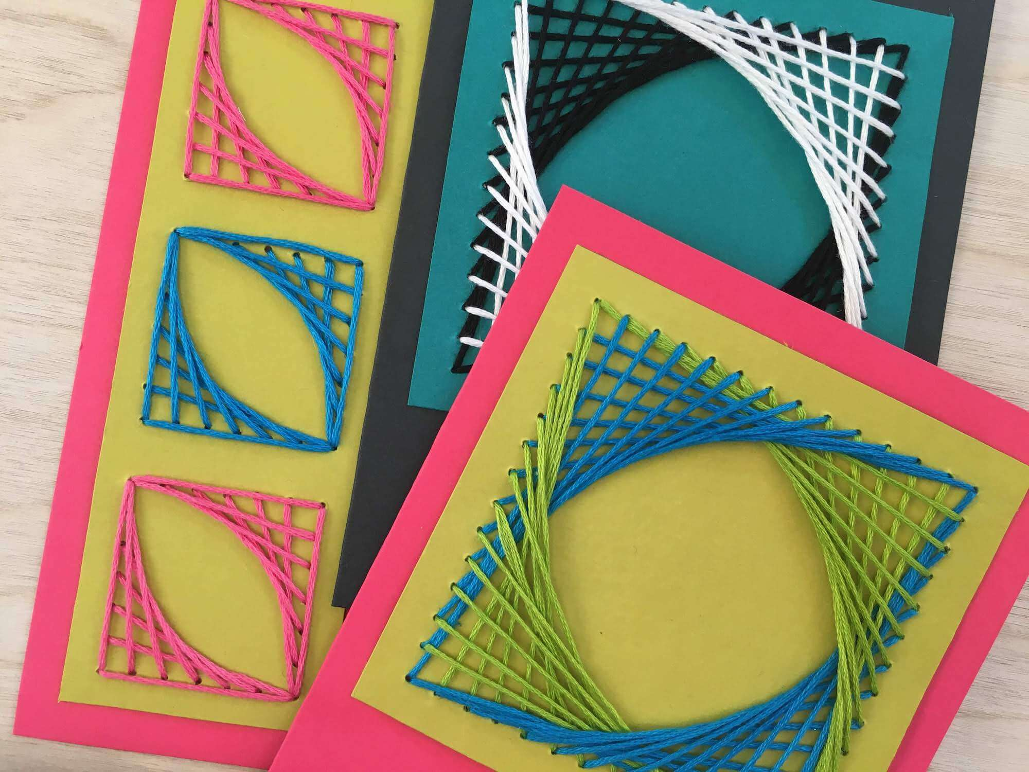 Paper Stitching String Art