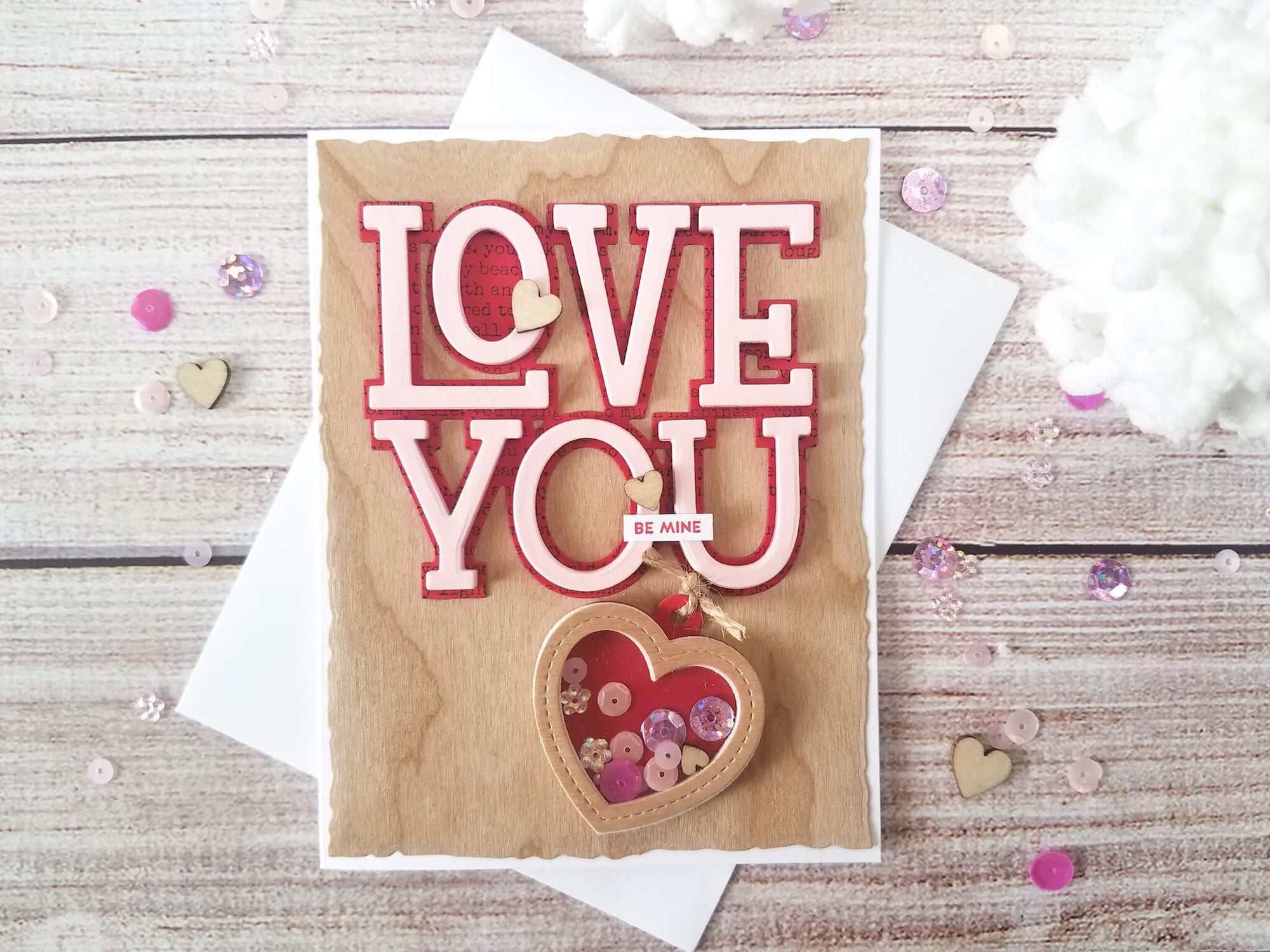 3d Ombre Letter Layering Valentine Card