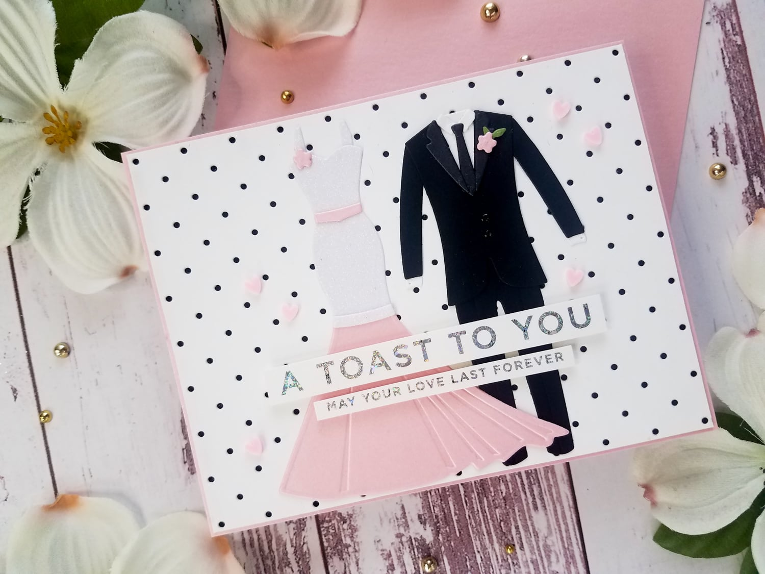 A Toast To You Wedding Card