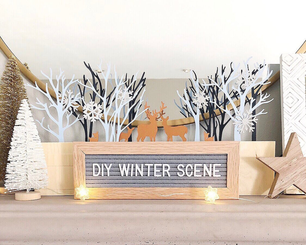 DIY Cardstock Paper Winter Scene