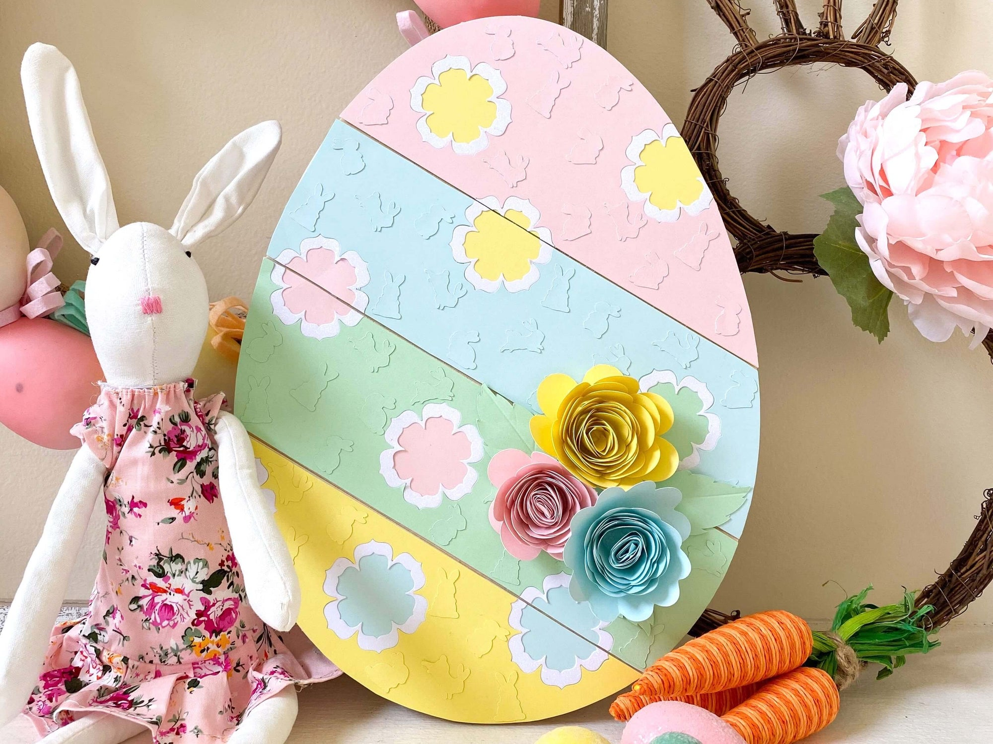 Pastel Paper Easter Egg Home Decor Project