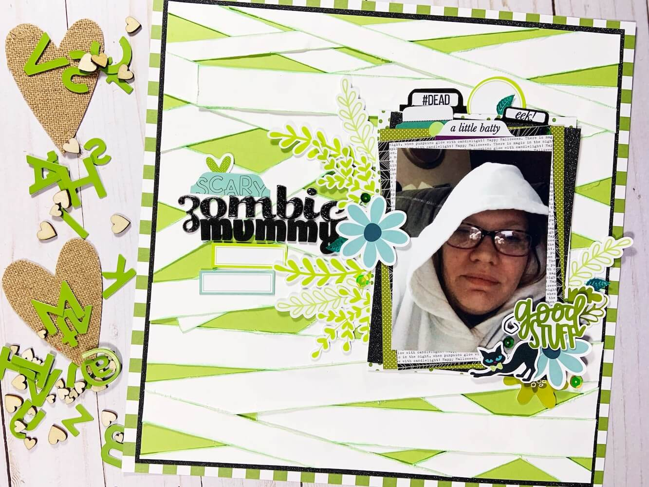 Zombie Mummy Scrapbook Layout