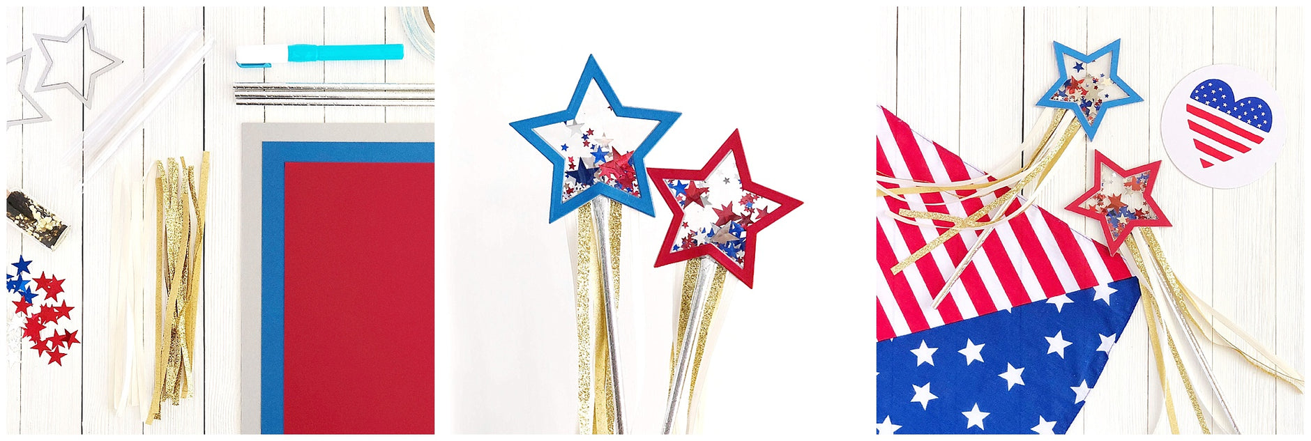 DIY Paper Star Fourth of July Parade Shaker Wands