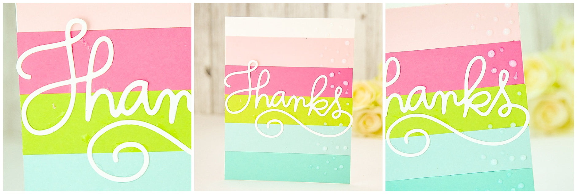 Summer Fun Cardstock Paper Thank You Card