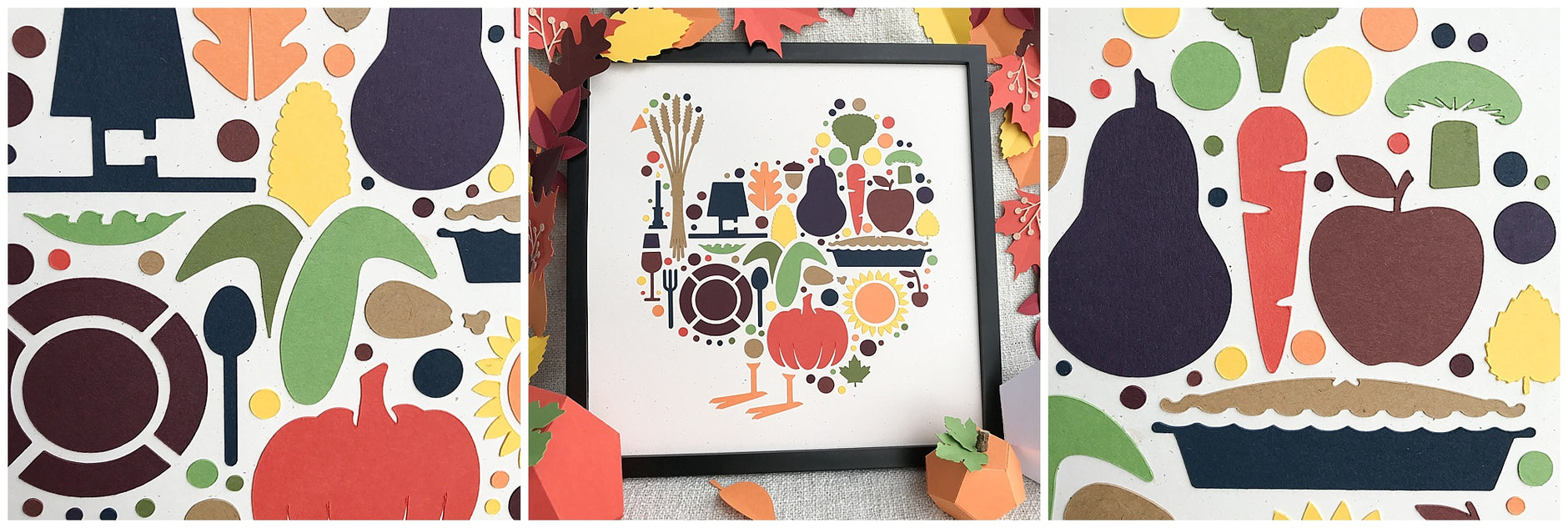 Paper Turkey Framed Art