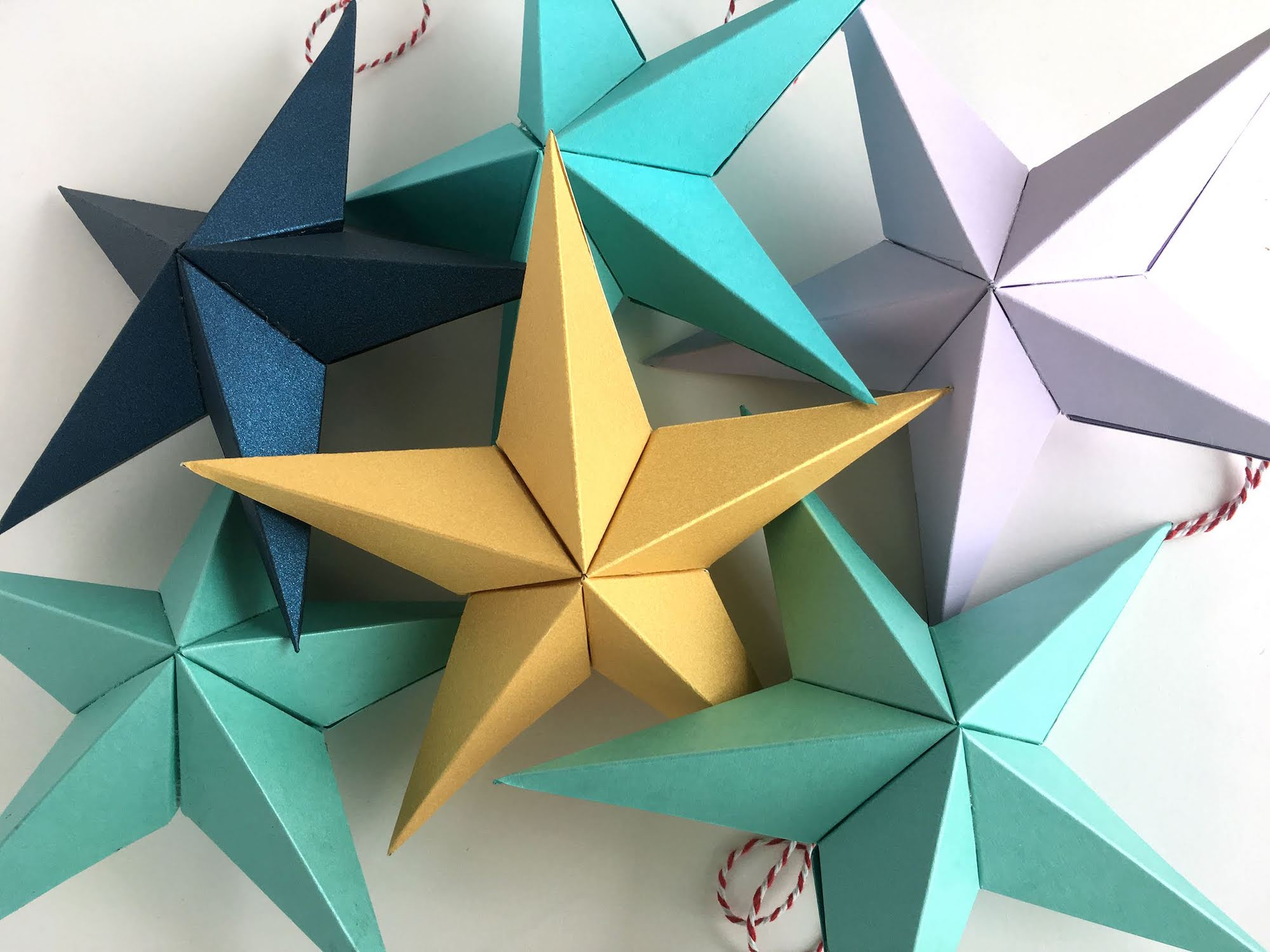 Cardstock Paper 3D Stars Decor Finished Stars