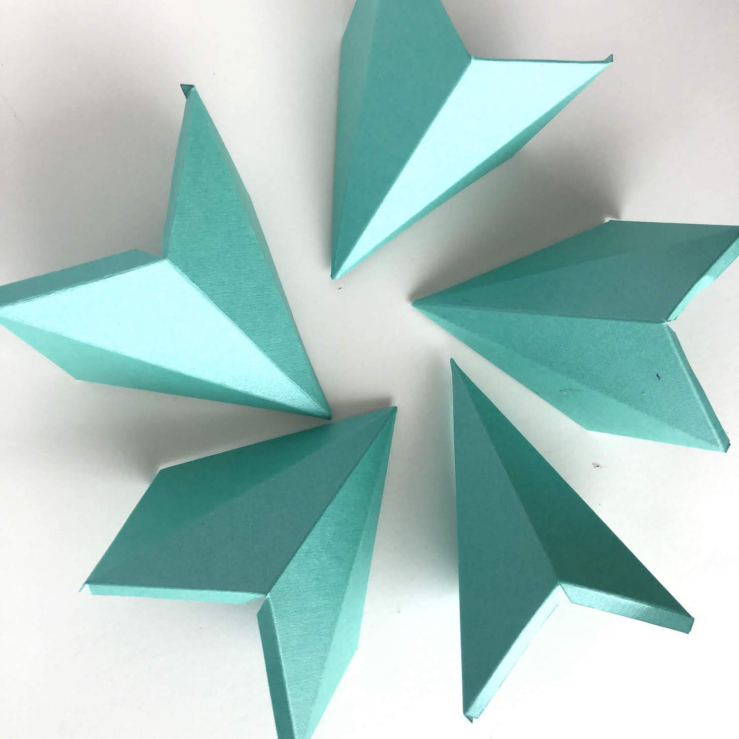 Cardstock Paper 3D Stars Decor Scored Pieces