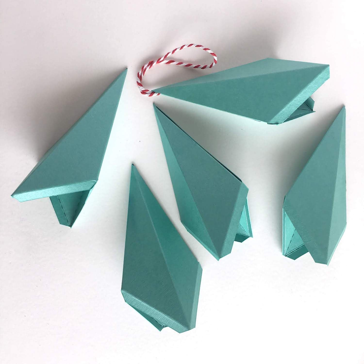 Cardstock Paper 3D Stars Decor Finished Kites