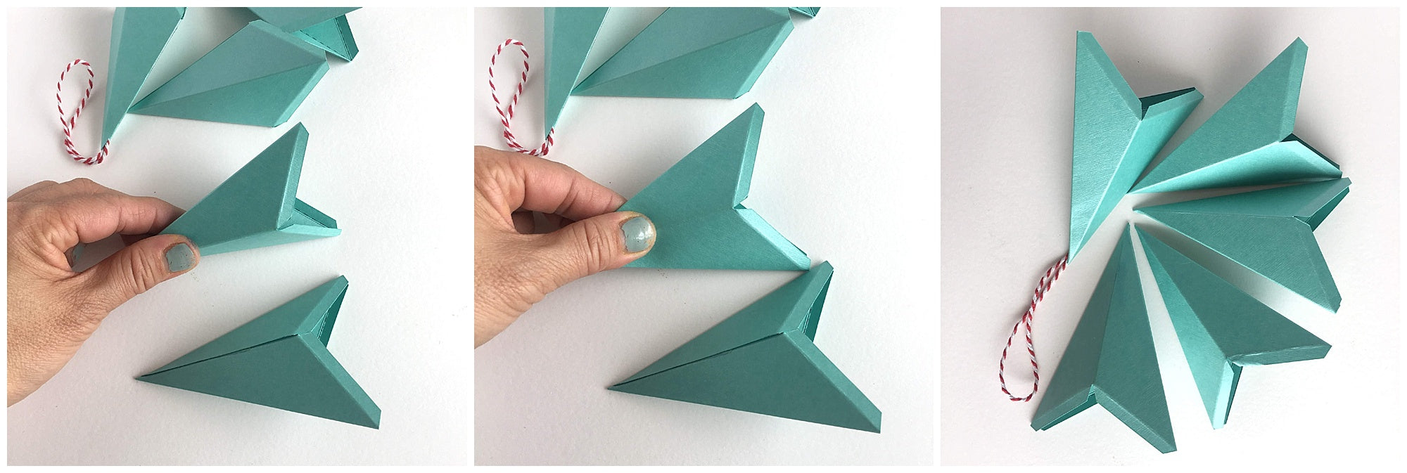 Cardstock Paper 3D Stars Decor Finishing Kites