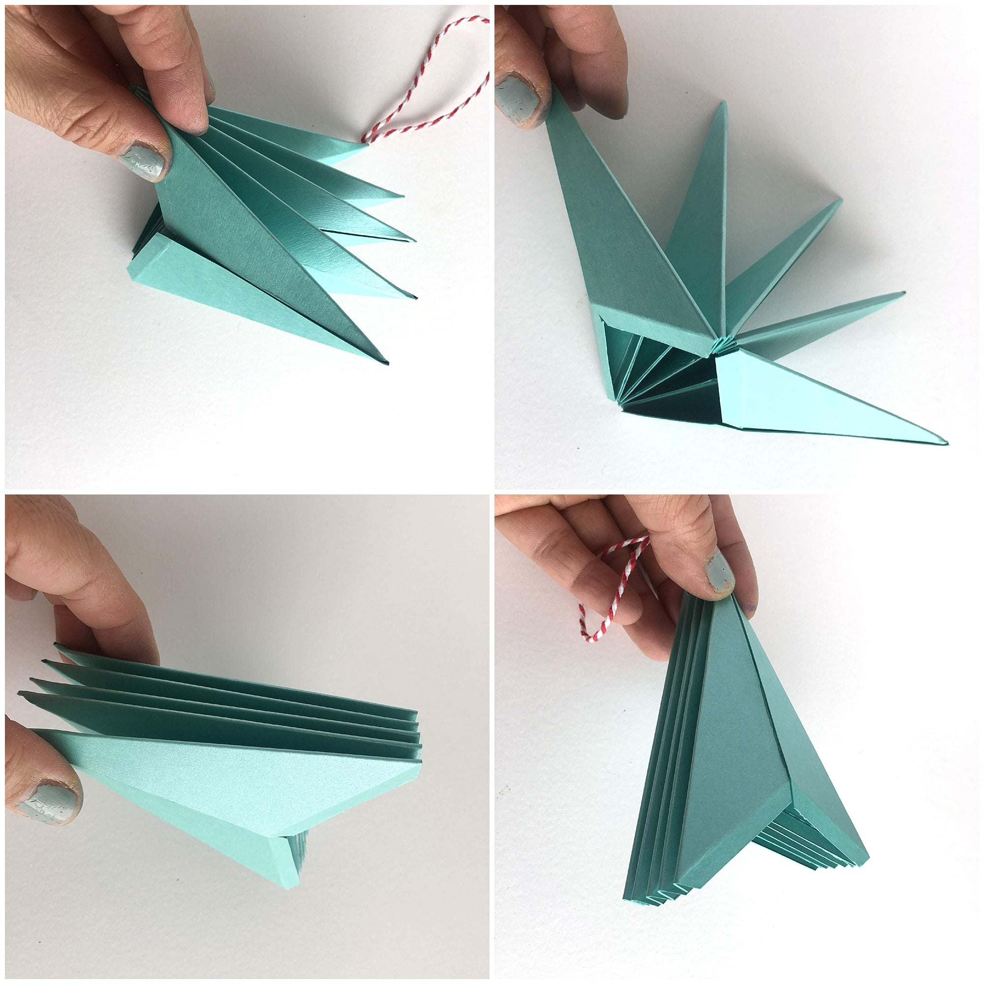Cardstock Paper 3D Stars Decor Attaching Kites