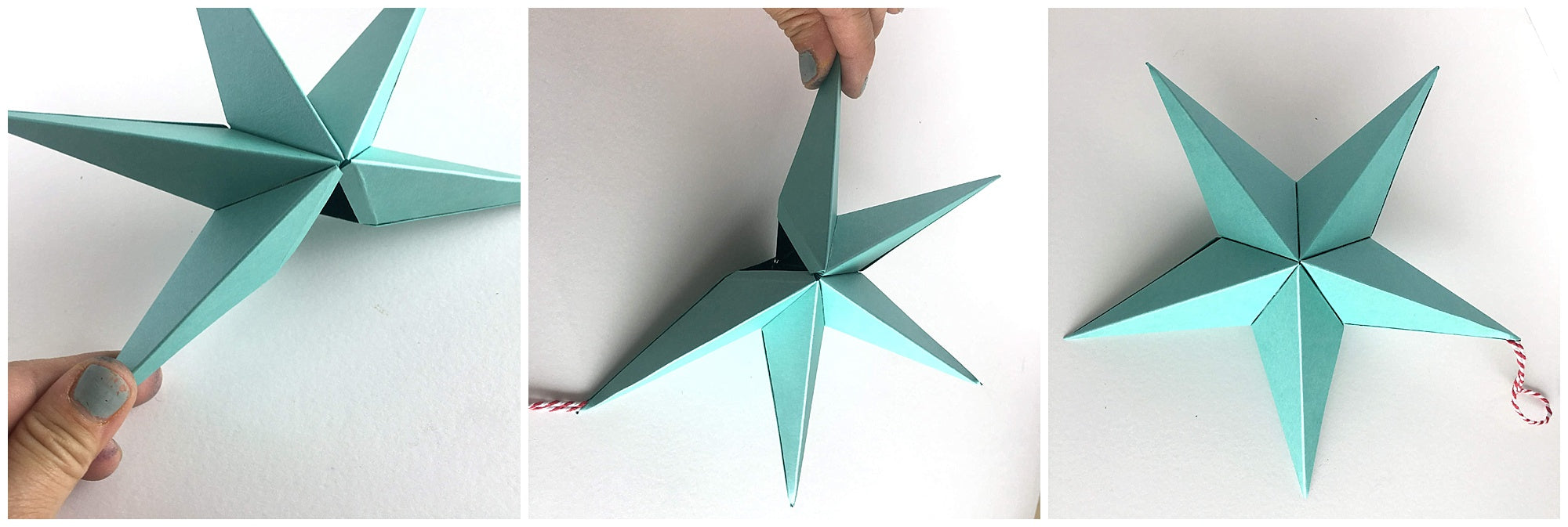 Cardstock Paper 3D Stars Decor Finishing Star