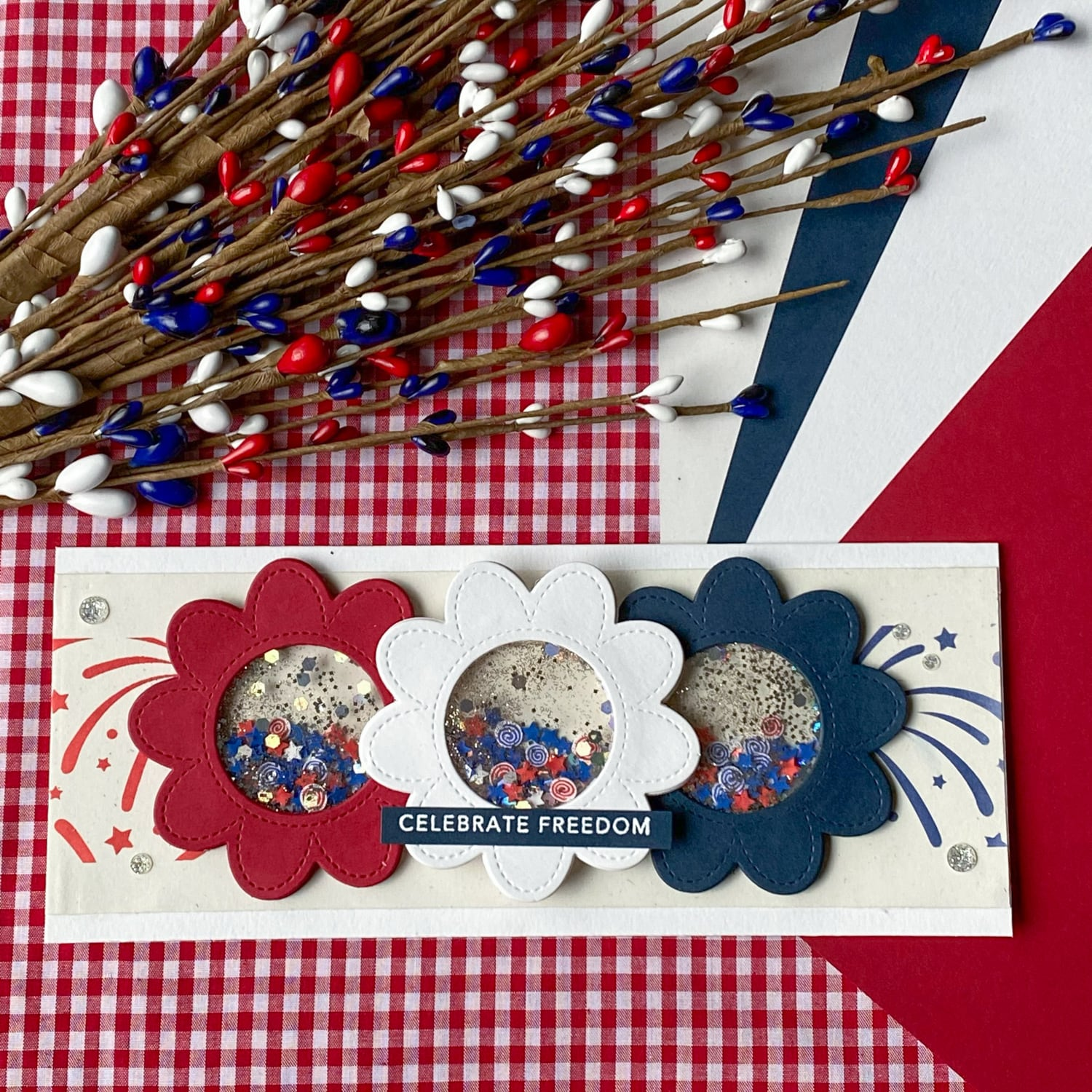 4th of July shaker card