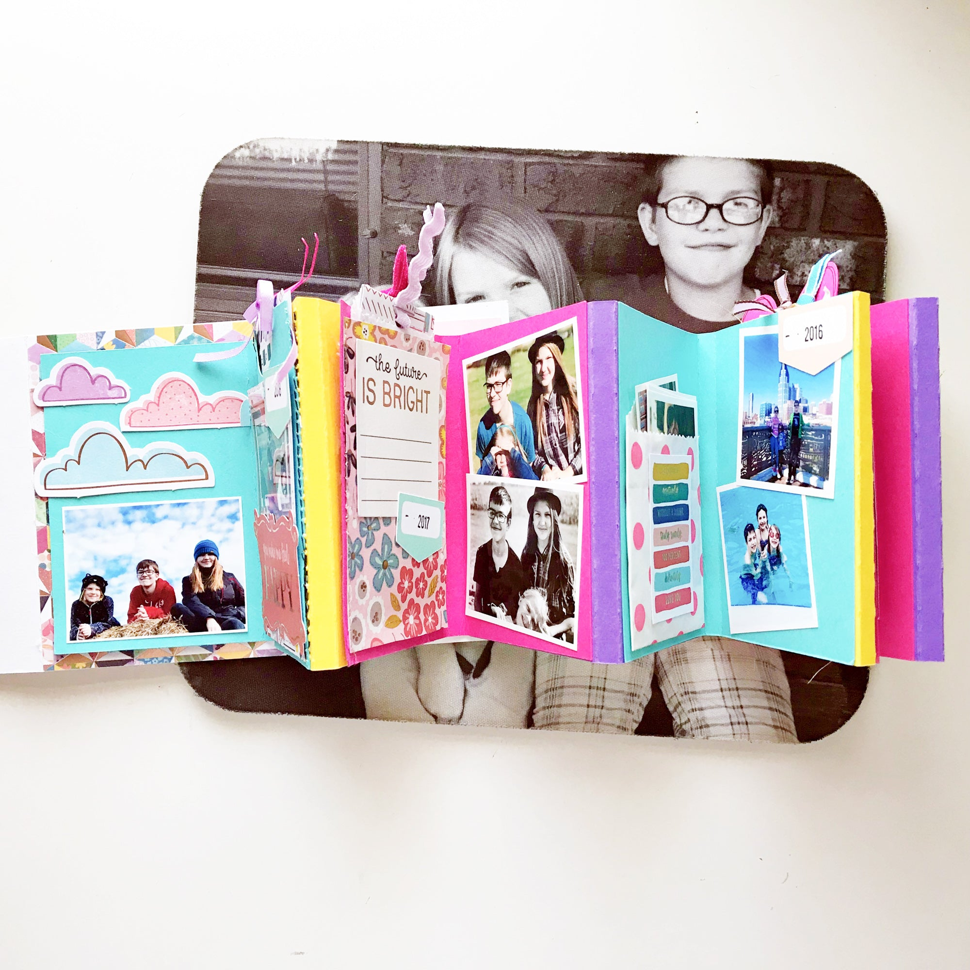 DIY Cardstock Paper Accordion Mini Album