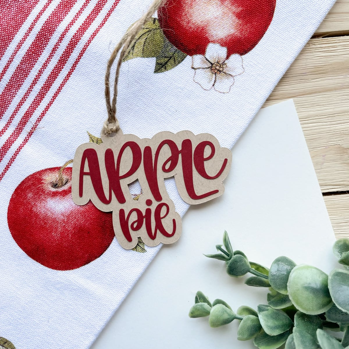 Apple Pie Gift Tag