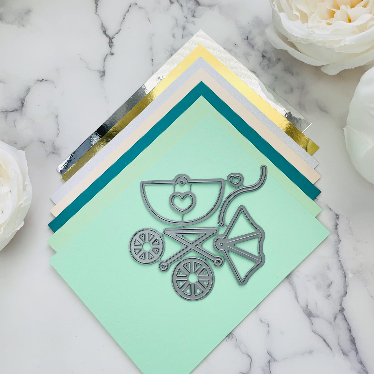 baby carriage card supplies