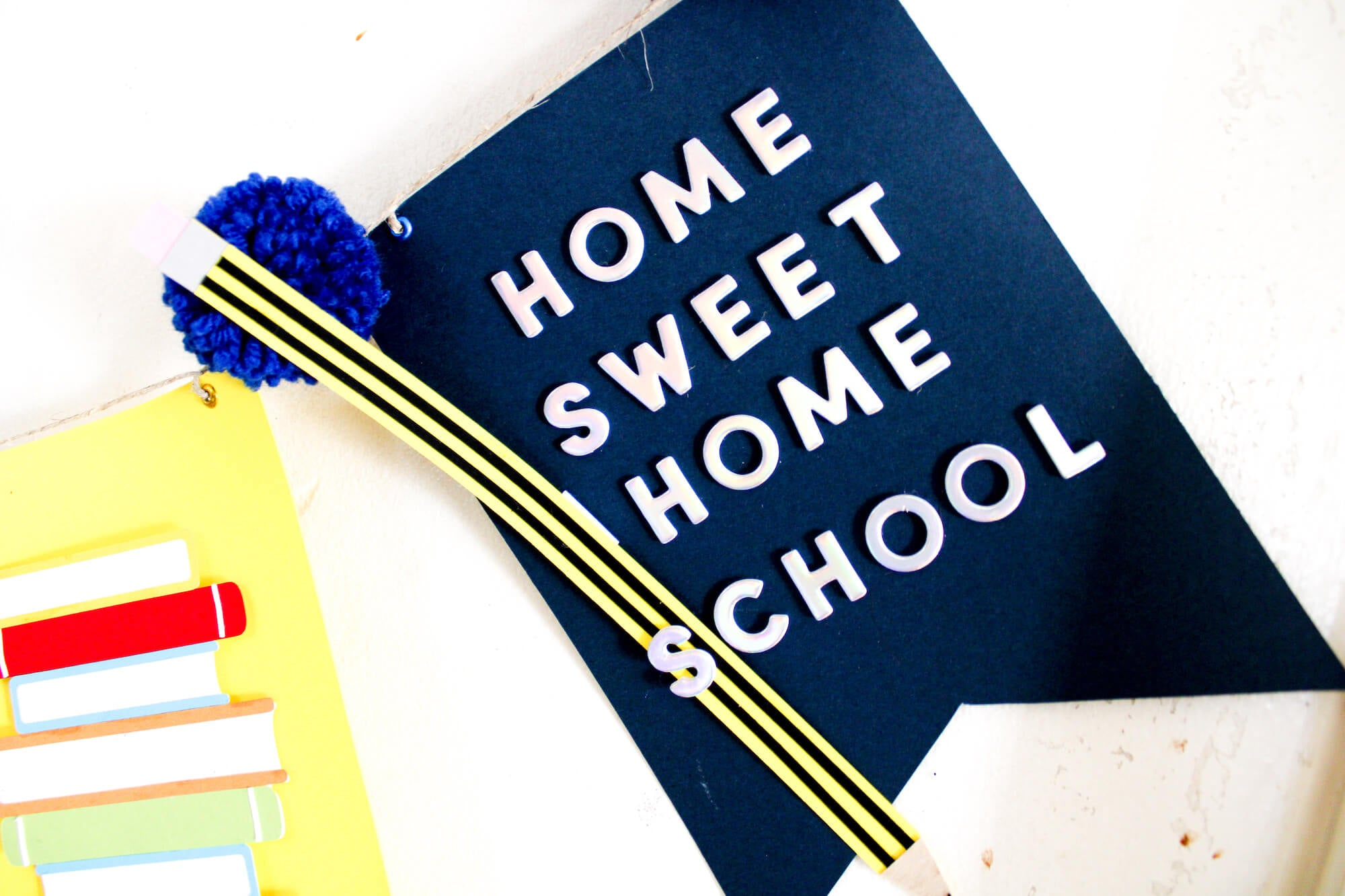 Home Sweet Homeschool Banner Pennants