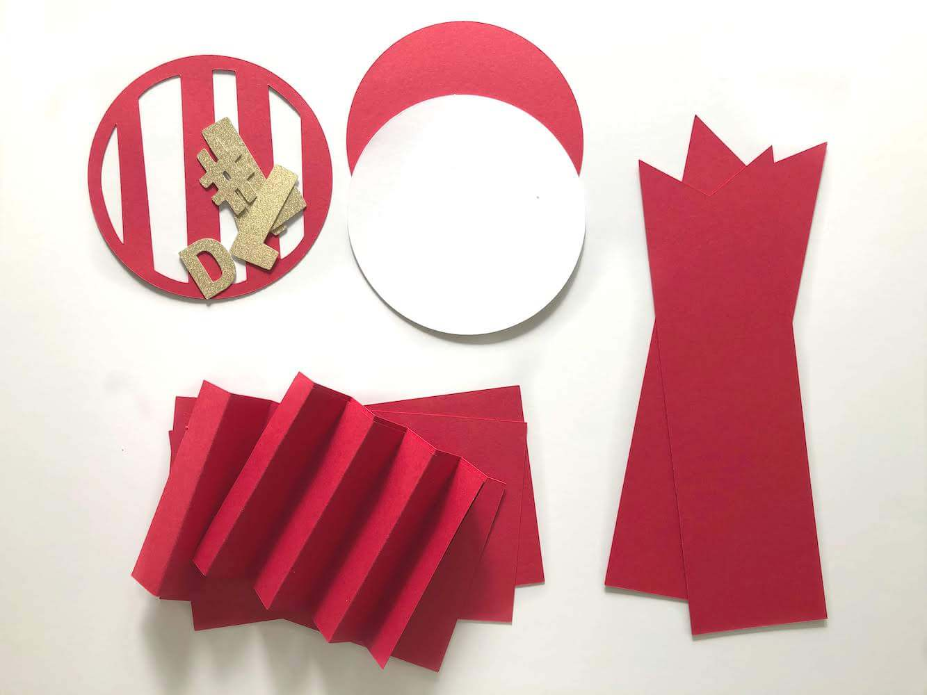 Fathers Day Best Dad Cardstock Paper Ribbon Cut Pieces