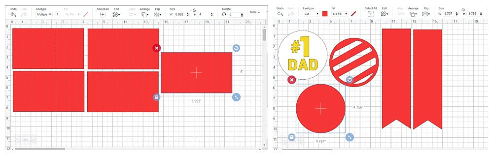 Fathers Day Best Dad Cardstock Paper Ribbon Design Space