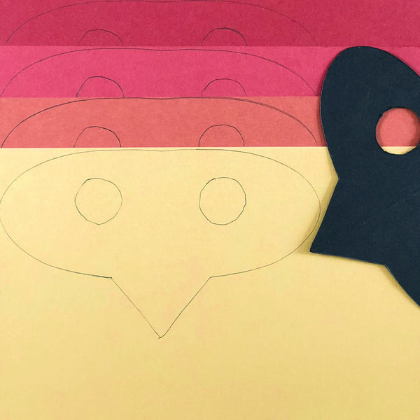 Halloween Cardstock Paper Bird Mask Tracing