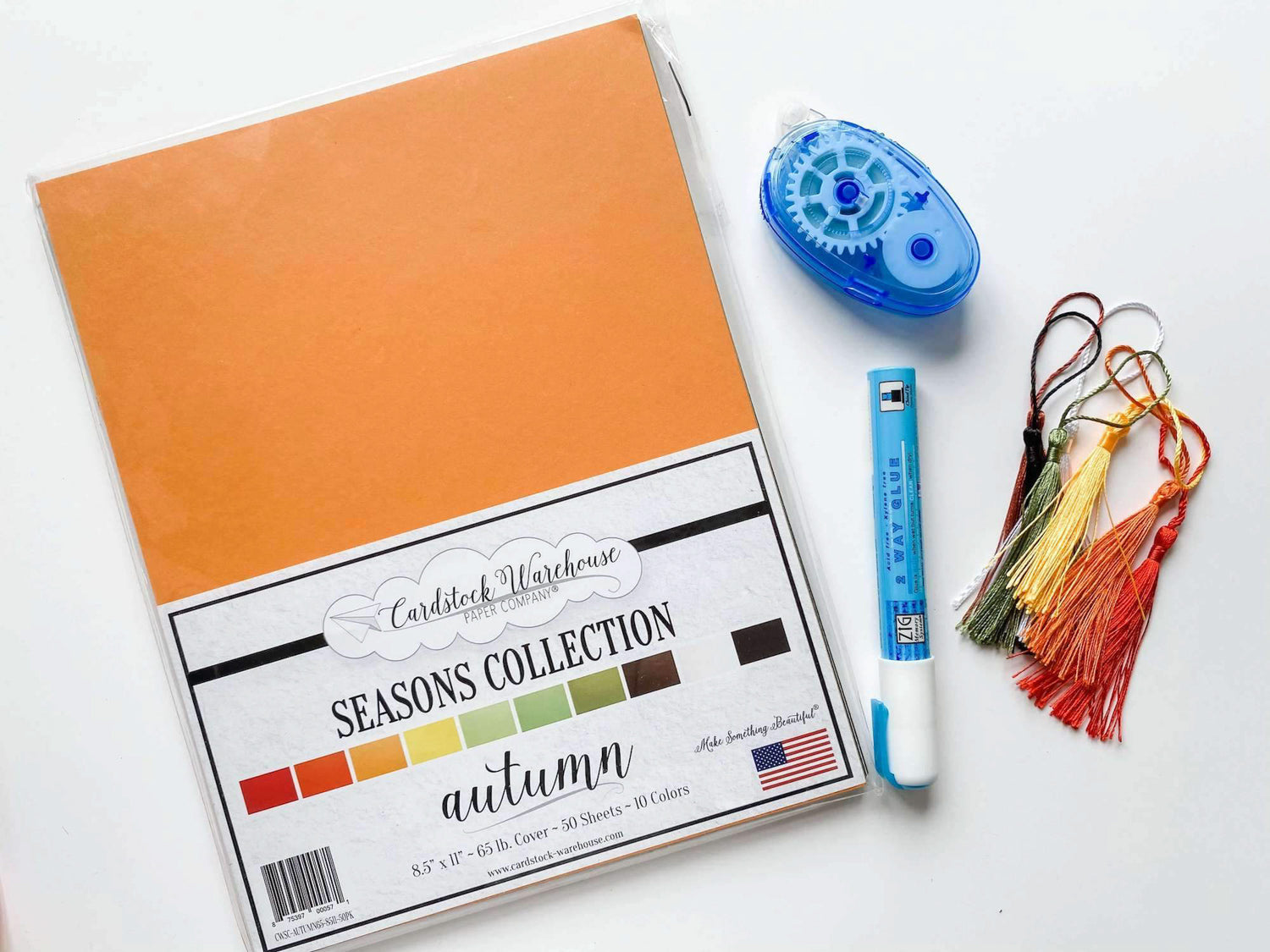 Autumn Back to School Bookmarks Supplies