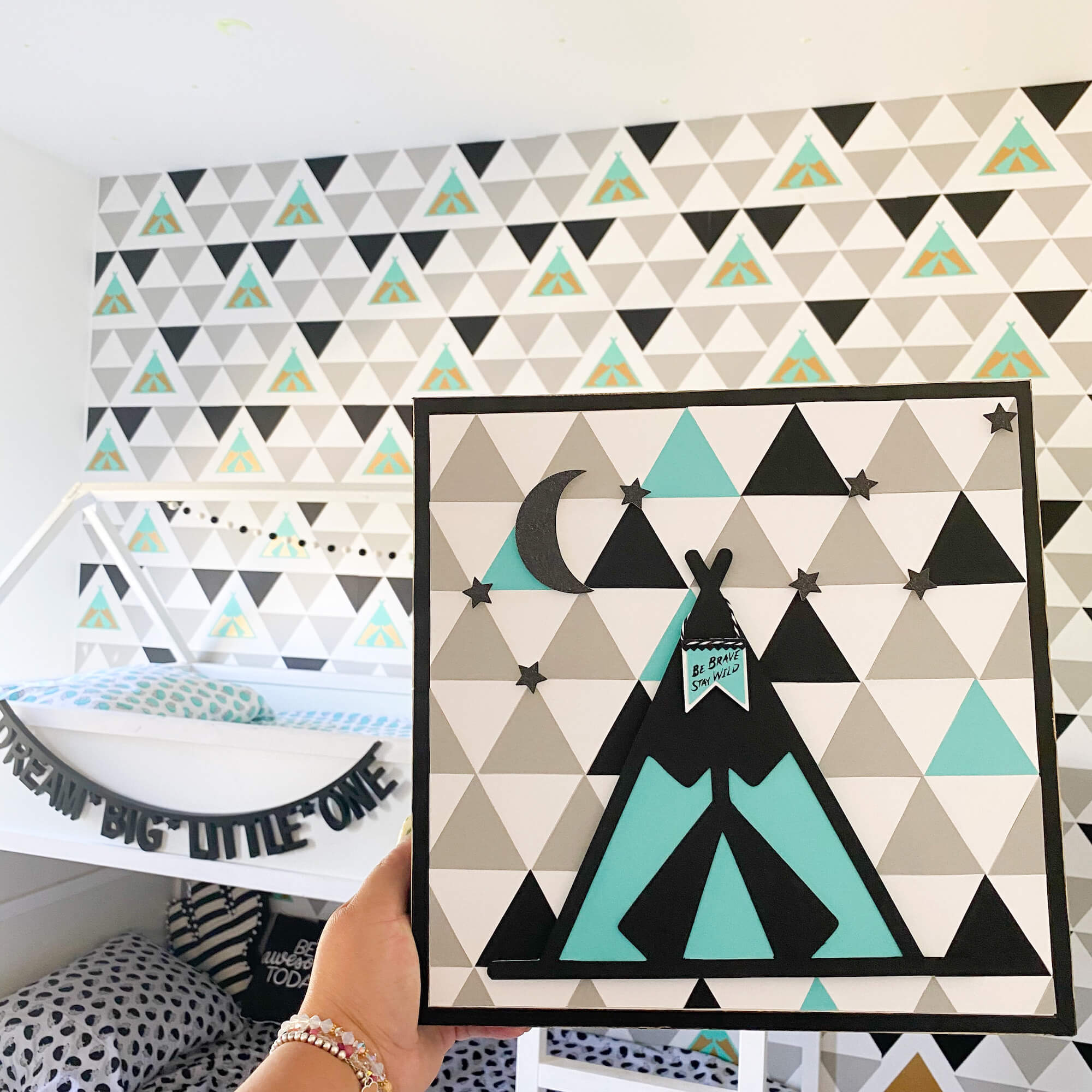 Geometric Boys Room Decor