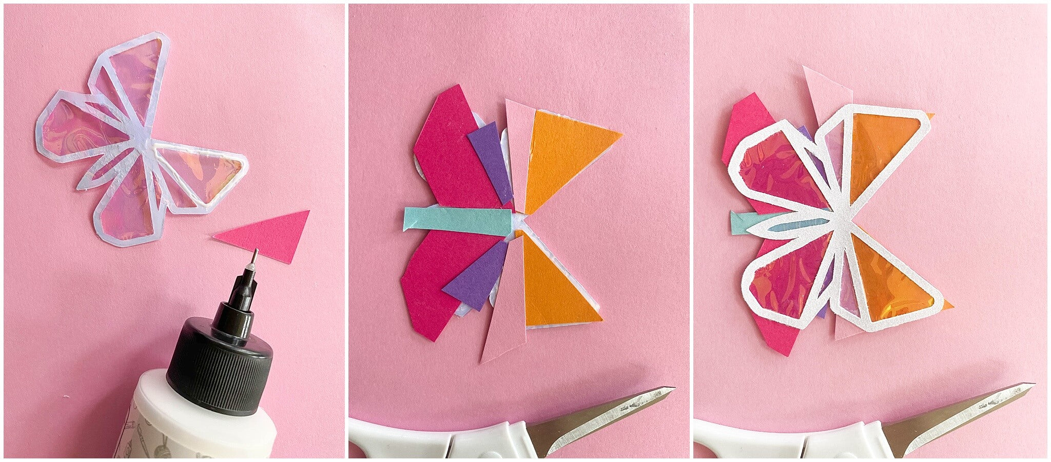 DIY Paper Butterfly Letter Board Icons Paper Gluing
