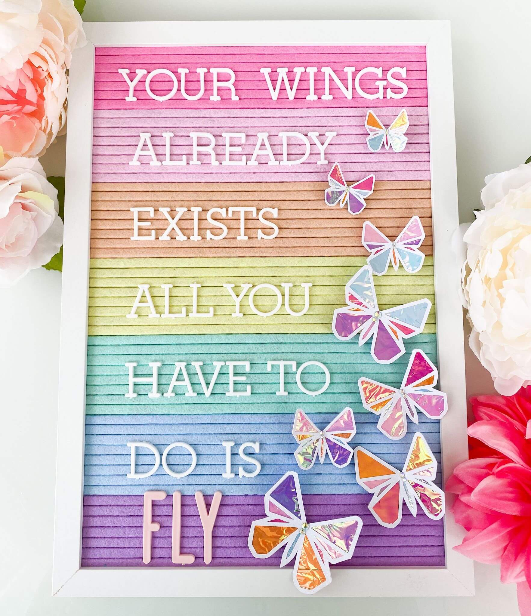 DIY Paper Butterfly Letter Board Icons