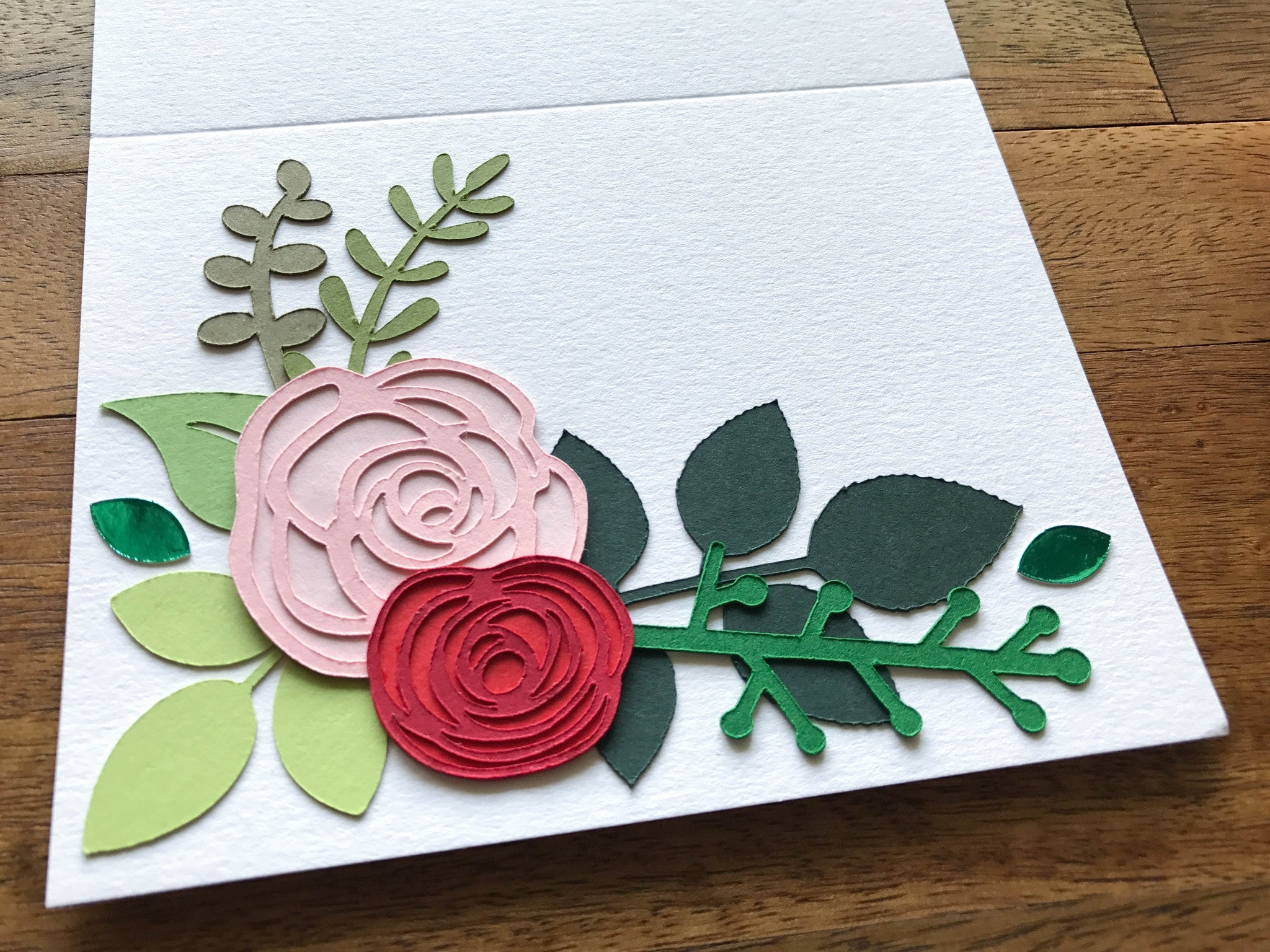 Paper flower and greenery cards from Cardstock Warehouse paper