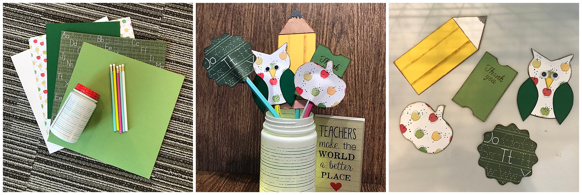DIY Cardstock Paper Teacher Appreciation Pencil Toppers Supplies