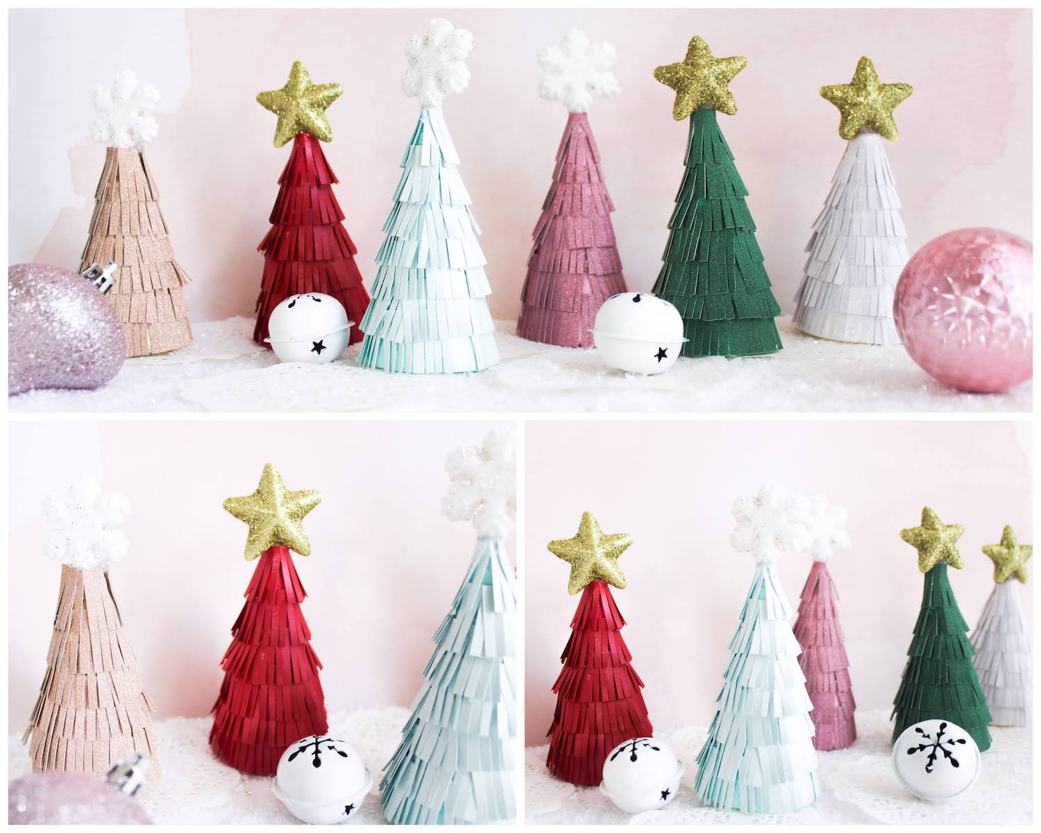 Finished cone christmas trees