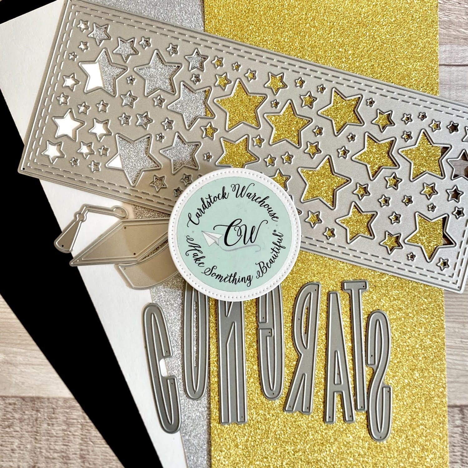 supplies for graduation greeting card