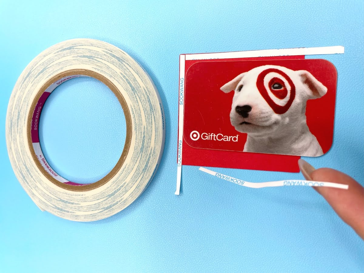 using scor-tape to create a gift card slider