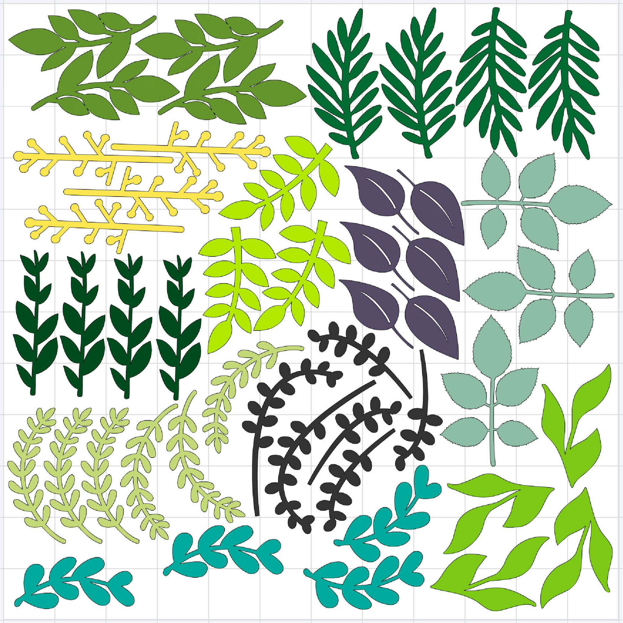 cricut cutting mat for cutting greenery