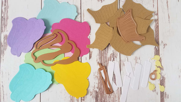 Cupcake Party Supplies Die Cut Pieces