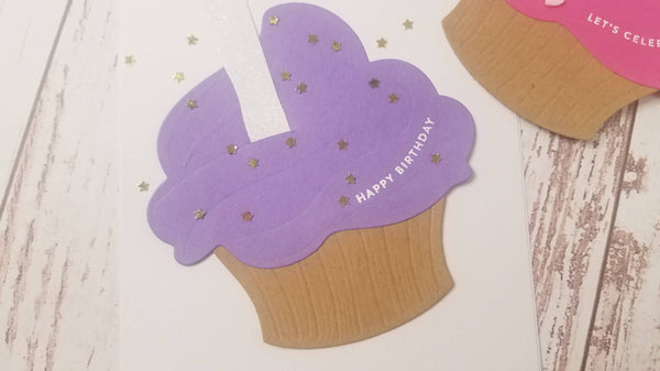 Cupcake Party Supplies Sentiment Stamp and Sprinkles