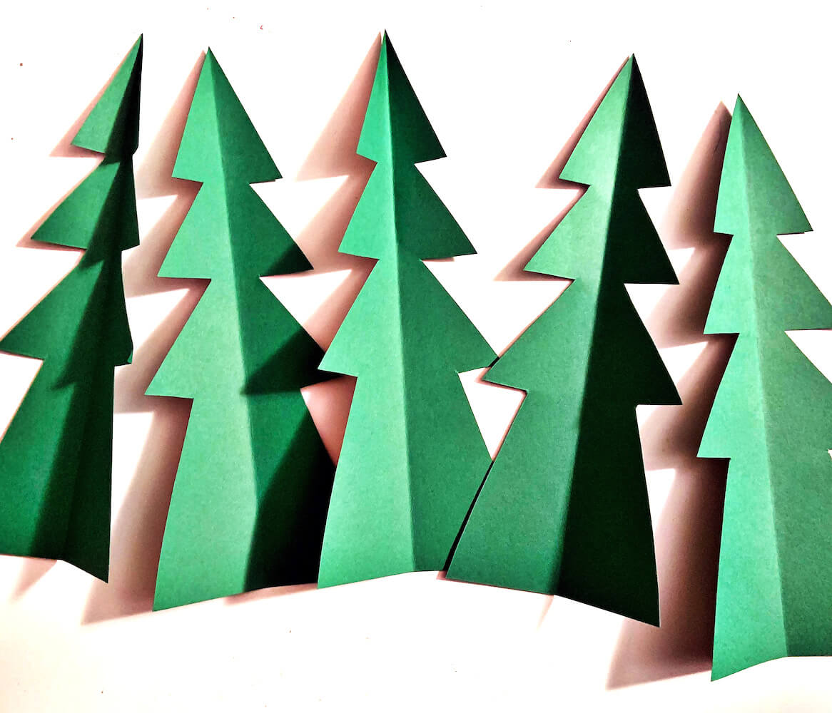 Deck the Halls Two Page Cardstock Paper Scrapbook Layout Cut Trees