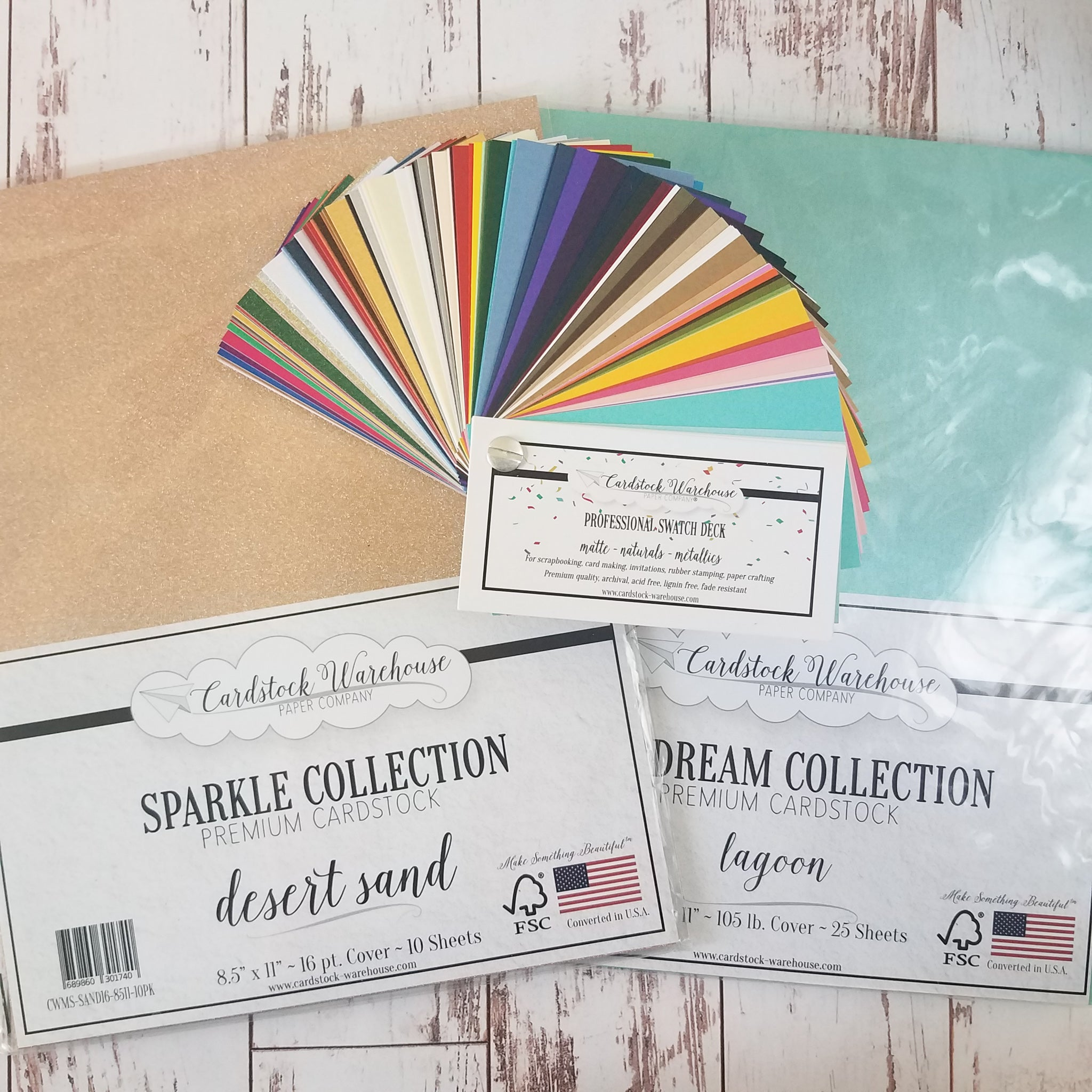 Cardstock Warehouse papers and swatch book