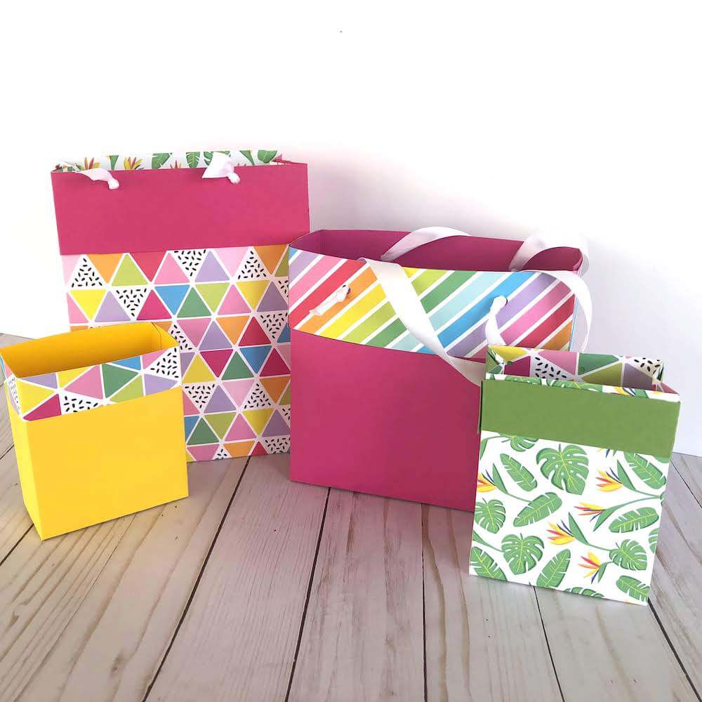 DIY Cardstock Paper Gift Bags Completed