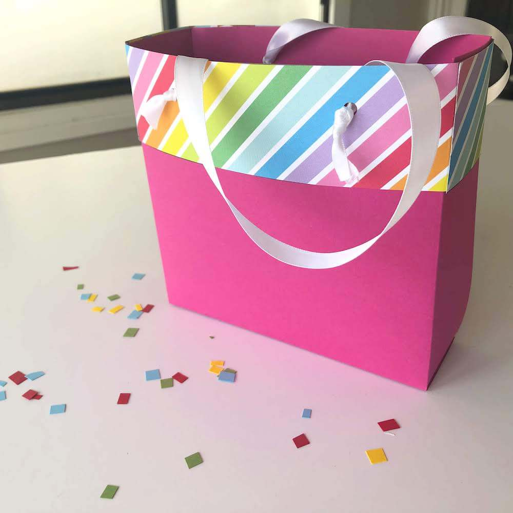 DIY Cardstock Paper Gift Bags Finished Bag